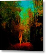 Nude In The Forest Metal Print