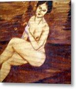 Nude In The Woods Metal Print