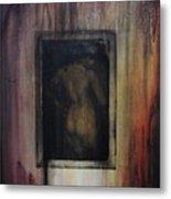 Nude In Vintage Metal Print