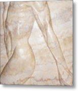 Nude Male Strolling Metal Print