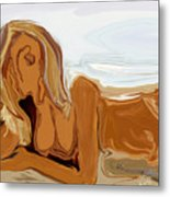 Nude On The Beach Metal Print