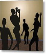 Nude Volleyball Metal Print by Jerry Cooper