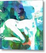 Nude Woman Painting Photographic Print 0031.02 Metal Print