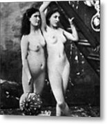 Nudes At Festival, C1900 Metal Print