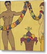 Nudes  Illustration From Les Chansons De Bilitis Metal Print