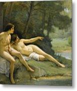 Nudes In The Woods Metal Print