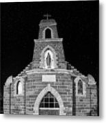 Nuestra Senora De Refugio, Illuminated By The Moon And Yard Lig Metal Print