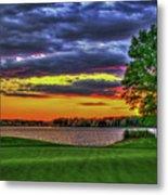 Number 4 The Landing Reynolds Plantation Golf Art Metal Print