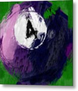 Number Four Billiards Ball Abstract Metal Print