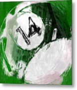 Number Fourteen Billiards Ball Abstract Metal Print