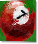 Number Seven Billiards Ball Abstract Metal Print