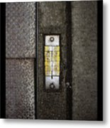 Numbers On The Sidewalk Metal Print