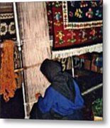 Nun Knotting Carpet Metal Print