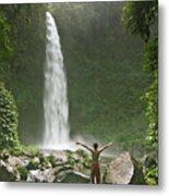 Nungnung Waterfall Metal Print
