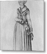 Nuremberg Woman In House Dress Metal Print