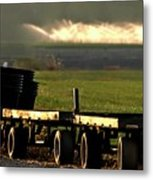 Nursery Wagons Metal Print