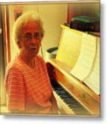 Nursing Home Piano Player Metal Print