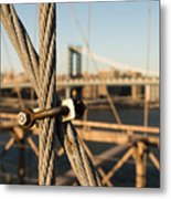 Nuts And Bolts Of The Brooklyn Bridge Metal Print