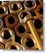 Nuts And Screw Metal Print