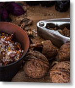 Nuts And Spices Series - Five Of Six Metal Print