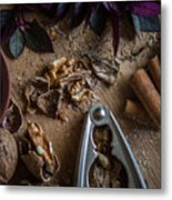 Nuts And Spices Series - Four Of Six Metal Print