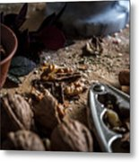 Nuts And Spices Series - One Of Six Metal Print