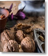 Nuts And Spices Series - Six Of Six Metal Print