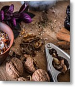 Nuts And Spices Series - Three Of Six Metal Print