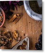 Nuts And Spices Series - Two Of Six Metal Print