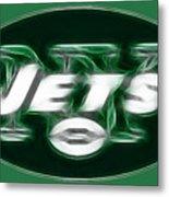 Ny Jets Fantasy Metal Print
