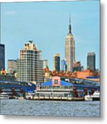 Ny Skyline And Chelsea Piers Metal Print