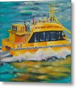 Ny Water Taxi Metal Print by Milagros Palmieri