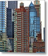Nyc Architecture Buildings Tall  Metal Print
