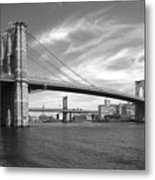 Nyc Brooklyn Bridge Metal Print by Mike McGlothlen
