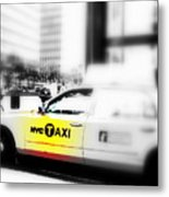 Nyc Cab Metal Print by Funkpix Photo Hunter