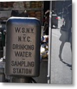 Nyc Drinking Water Metal Print