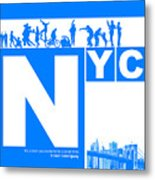 Nyc Find Yourself In The City Metal Print