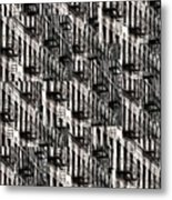 Nyc Fire Escapes Metal Print
