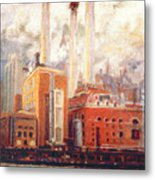Nyc- View From East River  Metal Print