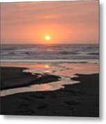 Nye Beach Sunset Metal Print