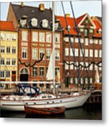 Nyhavn Area Of Copenhagen Metal Print