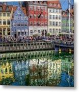 Nyhavn Harbor Area, Copenhagen Metal Print