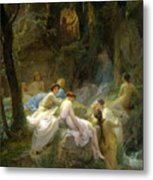 Nymphs Listening To The Songs Of Orpheus Metal Print