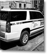 nypd police bomb squad gmc yukon xl vehicle New York City USA Metal Print