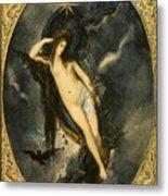 Nyx Night Goddess Metal Print