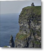 O Brien's Tower At The Cliffs Of Moher Ireland Metal Print