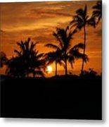 Oahu At Sunset Metal Print