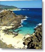 Oahu, Beach Goers Metal Print