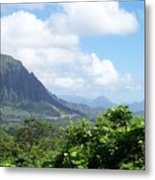 Oahu Mountain Metal Print