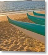 Oahu, Outrigger Canoes Metal Print by Tomas del Amo - Printscapes